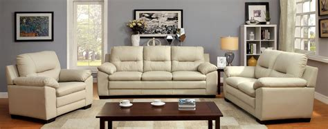 ivory living room furniture parma ivory leatherette living room set from furniture of