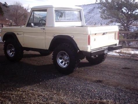 buy used 1966 early ford bronco half cab 4 wheel drive