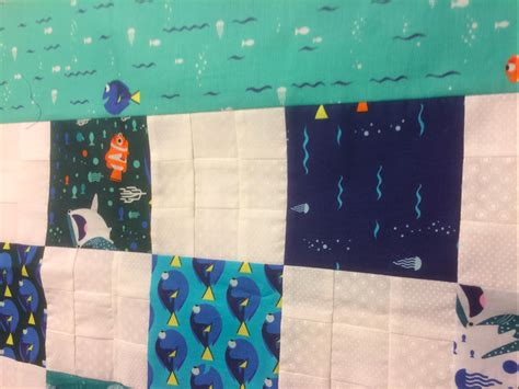Nemo Quilt by Nine Patch Finding Nemo Baby Quilt Home Sewn By Us