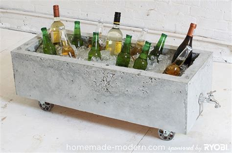 how to make a modern trough style concrete planter curbly