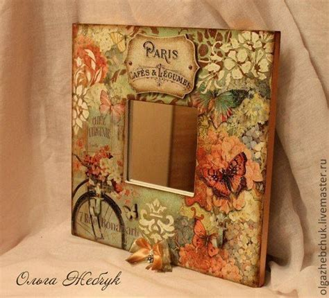 Decoupage Frame Ideas - decoupage on wood crafts