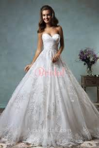 vintage inspired ball gown strapless sweetheart lace
