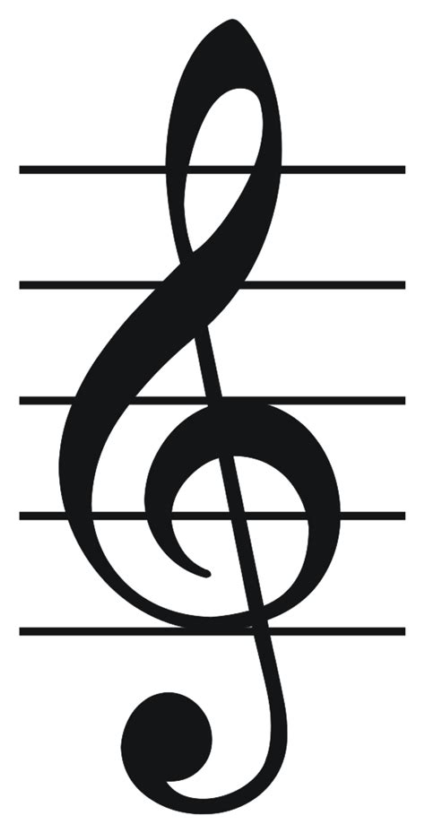 Treble Staff File Treble Clef Svg
