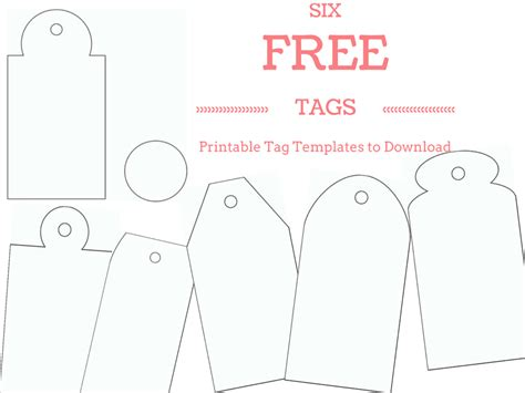 free printable gift tags templates 6 free printable gift tag templates