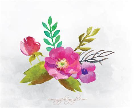 free vector watercolor flowers 9 free watercolor flower vectors for designers
