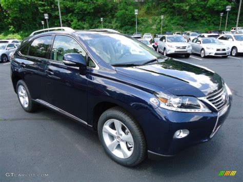 lexus rx blue deep sea blue mica 2013 lexus rx 350 awd exterior photo