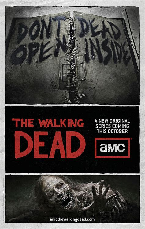 walking dead tv show poster amc zombies ebay