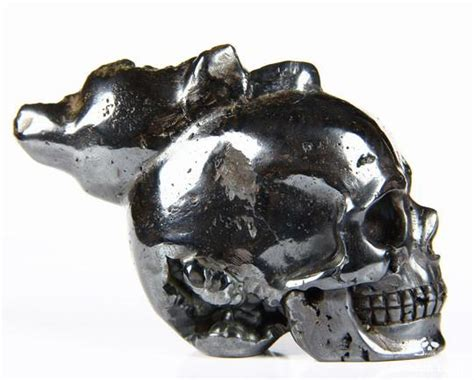 hematite skull unique 3 0 quot hematite carved skull skullis