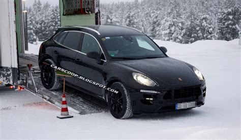 porsche truck 2013 spyshots upcoming porsche macan getting truck in