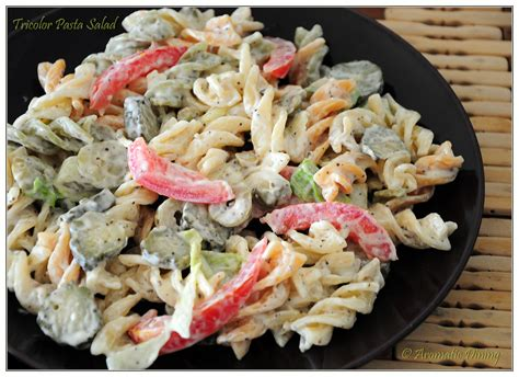 tri color pasta recipe aromatic dining tricolor rotini pasta salad