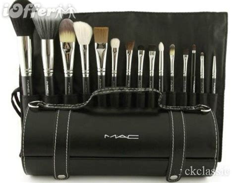 brand new 15pcs makeup brush set with leather bag for sale