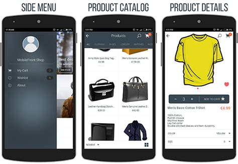 Mobilefront Shopify Mobile App Codeholder Net Shopify Mobile Template