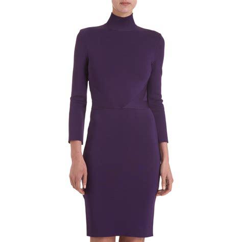 knit sheath dress givenchy knit sheath dress in purple violet lyst