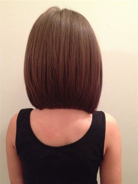 back of shoulder length hair long angled bob back view beauty and style pinterest