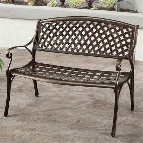 aluminum outdoor bench three posts broadview cast aluminum garden bench wayfair