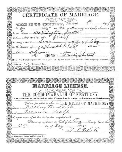 Ky Marriage License Records Robert Scalf Of Scalf