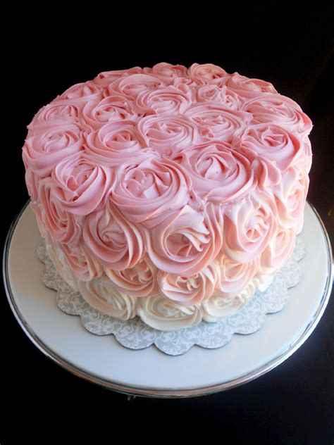 red roses pink ombre cake pink ombre rose cake confessions of a confectionista