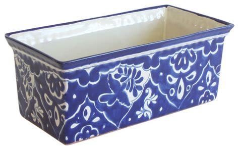 Ceramic Rectangular Planter by Rectangular Planter Traditional Indoor Pots And