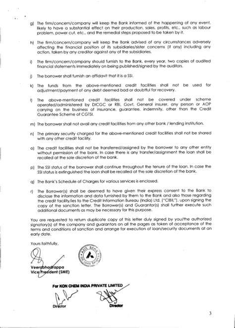 Offer Letter Of Bank Axis Bank Sanction Letter