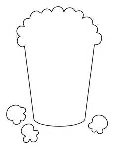 Popcorn Printable Template by Popcorn Pattern Use The Printable Outline For Crafts