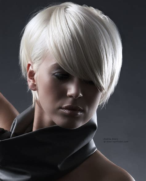 hair cuts for white hair short white hair clipped short and styled behind the ear