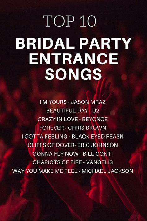 Wedding Reception Announcement Songs by The World S Catalog Of Ideas