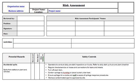shop risk assessment template shop risk assessment template 28 images risk