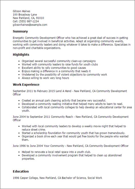 community development cover letter cover letter sle for community development officer
