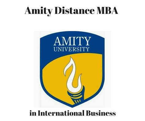 Mba In Company by Amity Distance Mba In International Business Distance
