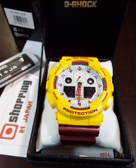 Casio G Shock Ga100cs Original g shock color ga 100cs 9ajf maroon burgundy x yellow