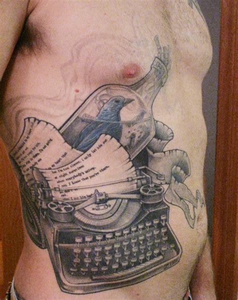 charles bukowski tattoo useofmedium bluebird