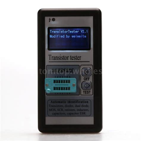 transistor mosfet testear lcd esr meter transistor tester capacitance inductance diode triode mos npn pnp ebay