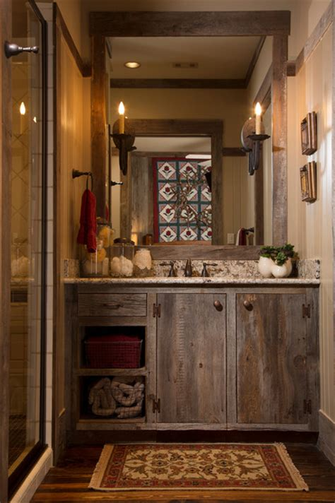 lodge style bathroom rustic lodge style home rustic bathroom houston by collaborative design group