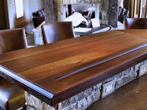 bar top slabs devos custom woodworking tx walnut wood countertop photo