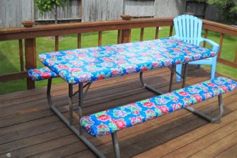 fitted picnic table and bench covers get your custom oil cloth tablecloth for your picnic table