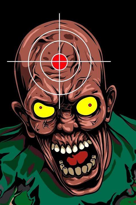 printable zombie head targets killer zombie paper shooting targets 10 75 x 15 single