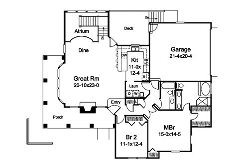 atrium ranch floor plans marina bay sunbelt atrium home plan 007d 0244 house