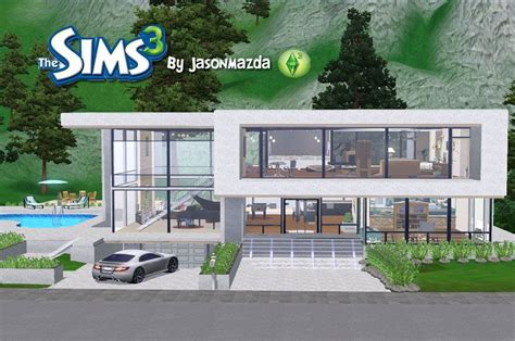 Modern House Floor Plans Sims 3 Home Design And Style