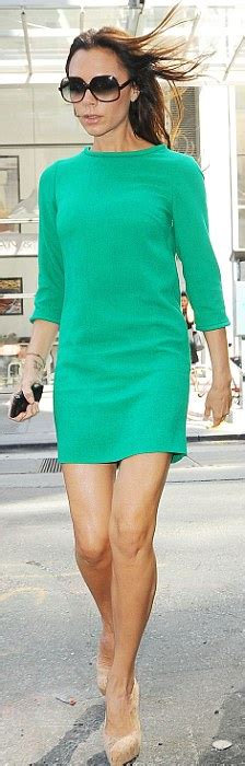 Branded Green Dress For And Size 7y Until 14y new york fashion week beckham dazzles in lola emerald dress daily mail