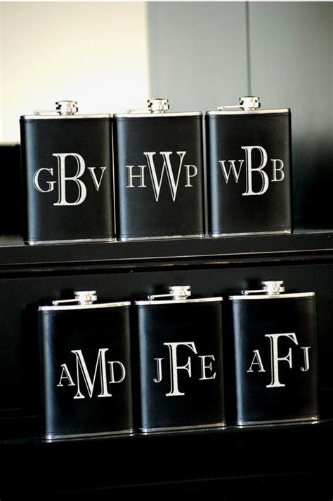 6 Personalized Groomsmen Gifts   Custom Engraved Leather