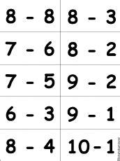 printable flash cards addition and subtraction 1 20 printable flashcards for bingo games enchantedlearning com