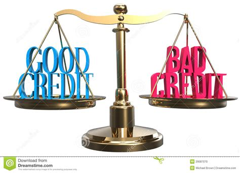 good  bad credit scales balance choice stock