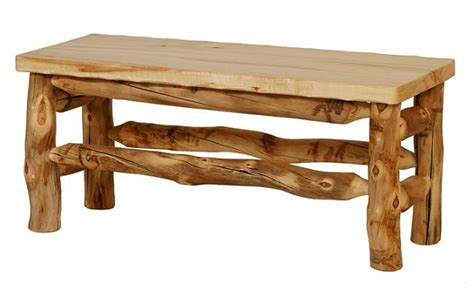 56 inch aspen dining table bench lodge craft