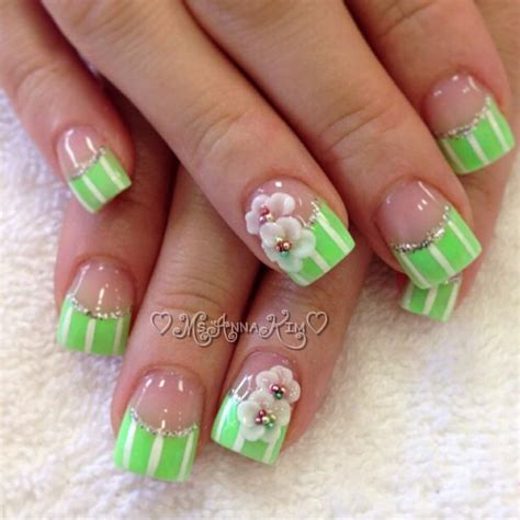 Gel Flower 3d flower gel nail design gel nail and nails