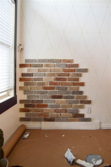 how to hang a picture on a brick wall installing brick veneer inside your home vintage revivals