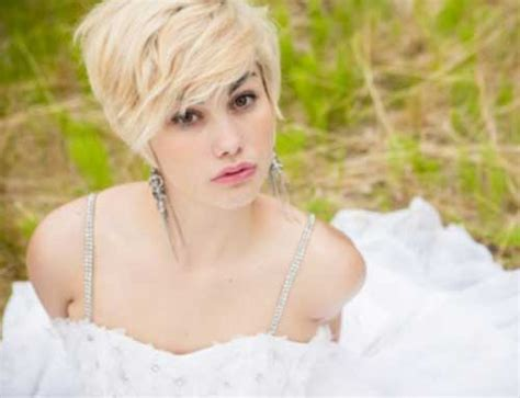 blonde wedding updos 10 super short bridal hairstyles short hairstyles 2017