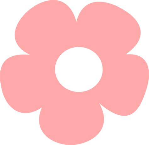 Simple Pink Flower Clip At Clker Vector Clip