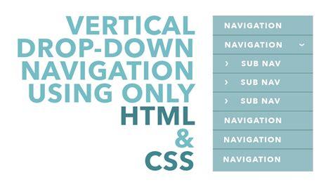 design drop down html vertical drop down navigation using html css youtube