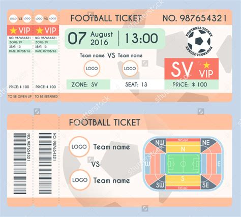 football ticket template 24 ticket template free psd ai vector eps format