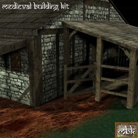 farmhouse kit medieval building kit small farmhouse kit poser daz